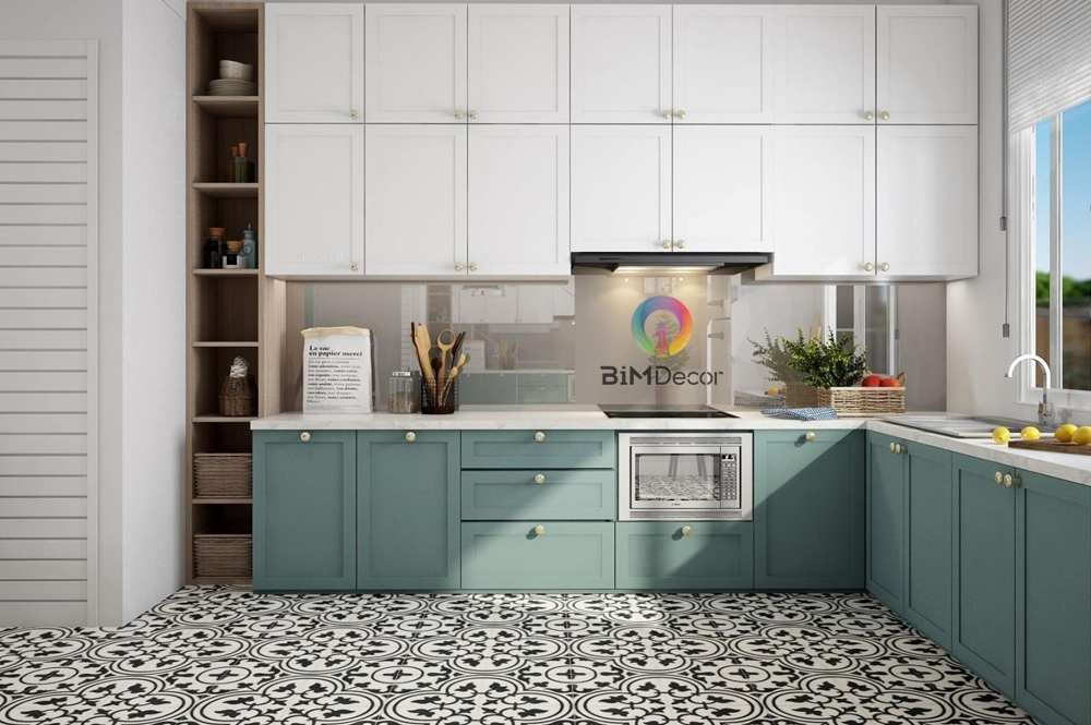 Tủ bếp Lacquered Laminate An Cường MS008