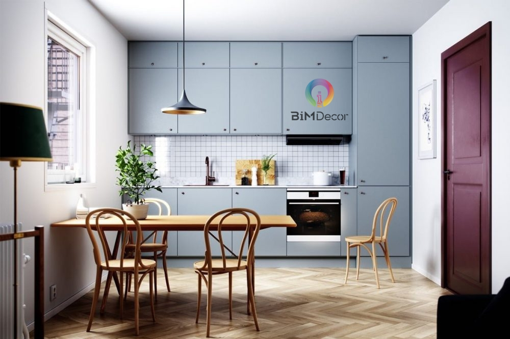 Tủ bếp Lacquered Laminate An Cường MS011