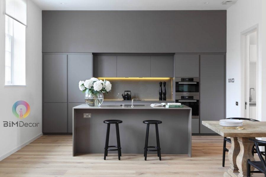Mẫu tủ bếp Melamine An Cường MS10